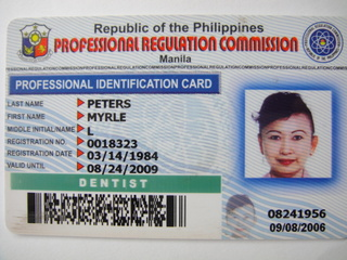 Philippine Dental License